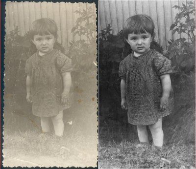 Восстановление четырех фотографий